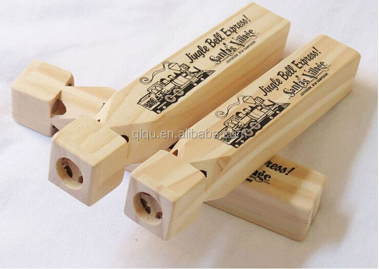 DIY Picture Whistle Funny Instrument train voice Whistle Natural Wood Baby Toys QQ-YD001