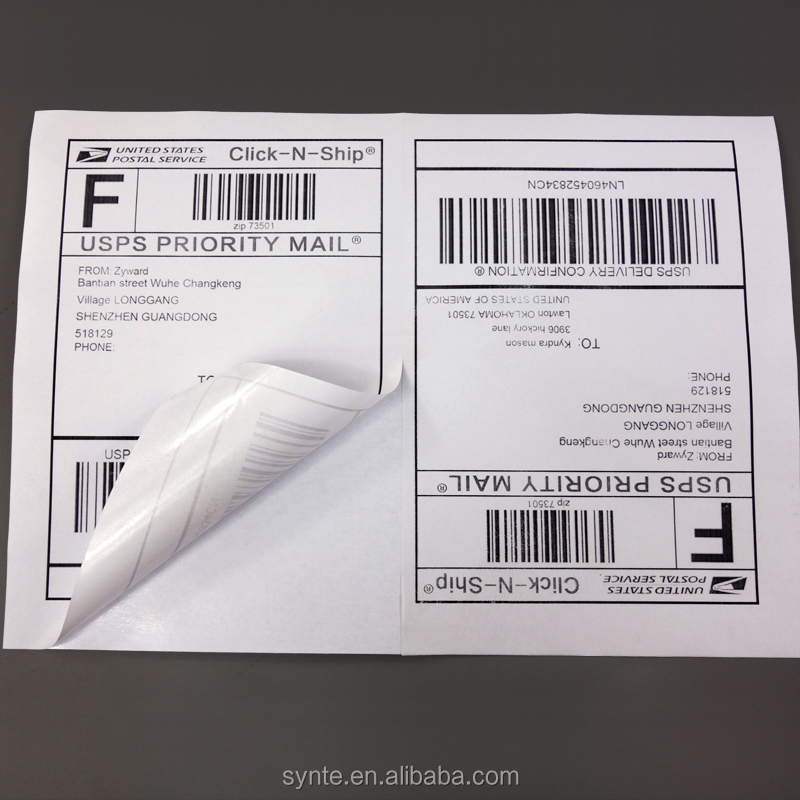 shipping labels 2 per sheet self-adhesive A4 Size sticker Paper for laser/inkjet printer packing label strong glue