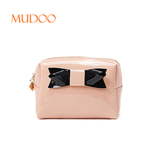 WHOLESALE PINK LADY'S PU ZIPPER CONVENIENT SMALL CAPACITY WATERPROOF CARTOON JELLY COLOR COSMETIC BAG MAKEUP BAG HANDBAG SUPPLIE