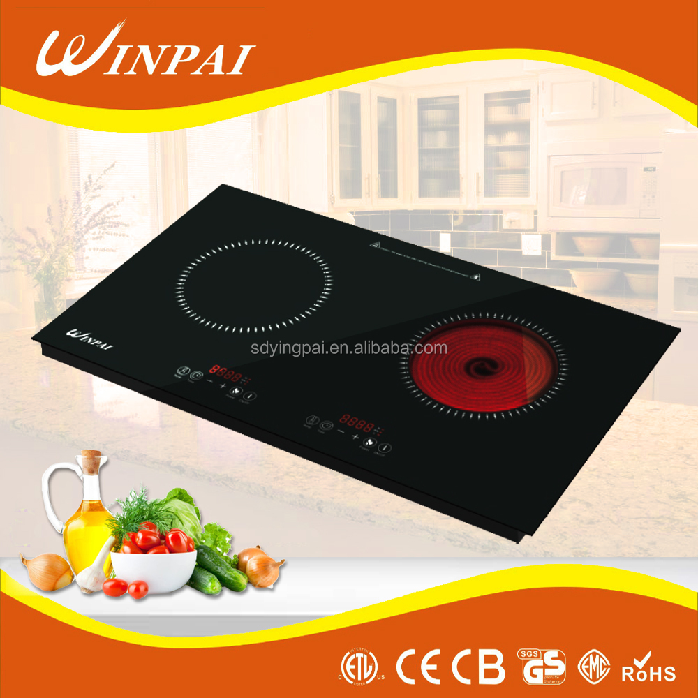 Hybrid Induction and Infrared Cooker Built-in double Cooking stove