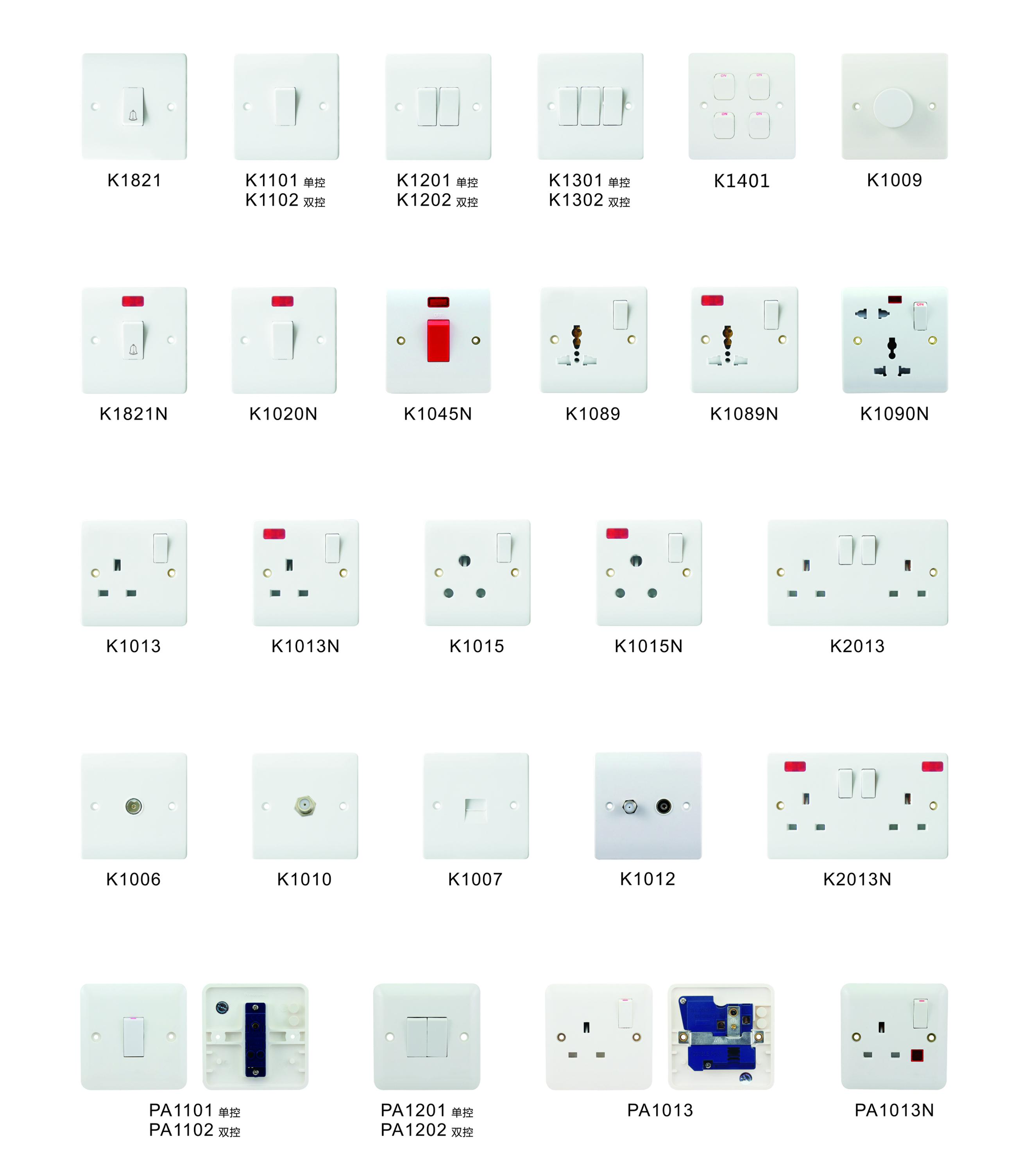 ABS PC Europe socket with double usb 5V 2,1A