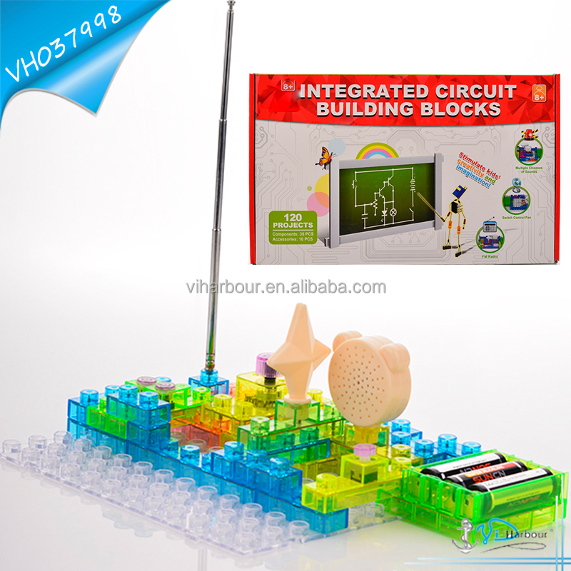 2016 Hot Plastic Circuit Electronic building blocks Toy for Education