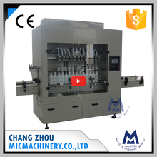 Micmachinery prestige reliable MIC-ZF6 6 nozzles automatic antiseptic bleach bottle filling and capping machine