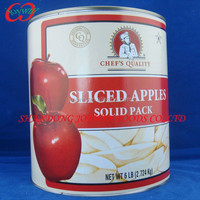 Canned apple solid pack apple A10