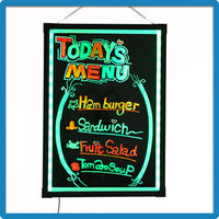 Trade Assurance LED Display Message Writing Board Aluminum Alloy Frame LED Light Up Writing Board RB5050 Menu Writing Board