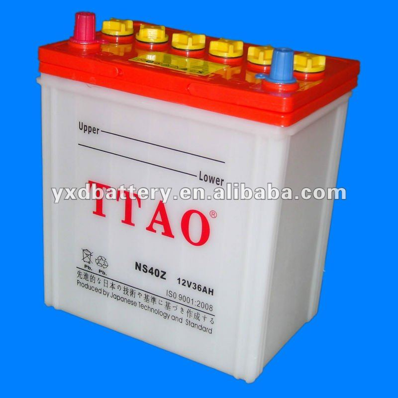 Dry Charged Car Battery For Japanese Car NS40
