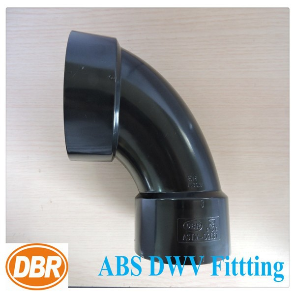 plumbing and electrical supply ASTM D2661 3 inch 90deg elbow schedule 40 pipes /large plumbing ABS pipe fitting