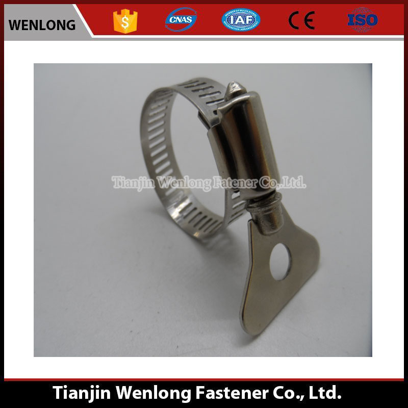 Very popular stainless steel American type handle hose clamp