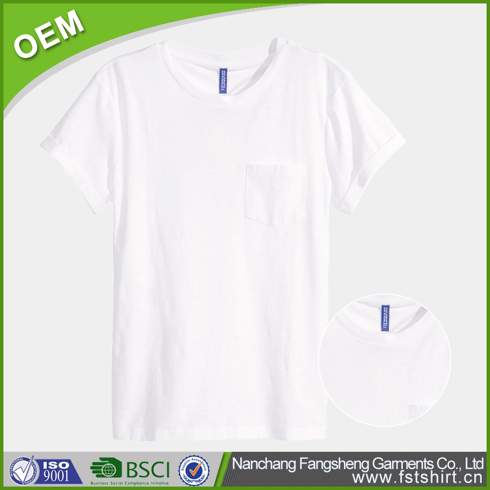 Brand fashion custom cheap blank white cotton ibs t-shirt