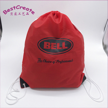 Custom Logo and design drawstring Waterproof Student Outing Carry Pouches Nylon backpack Clothes Bags