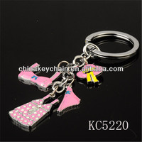 Innovative women's dress items keychain for promotional gift