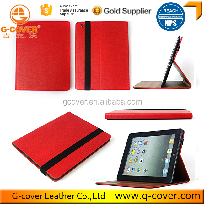 Shockproof Red Color Smart Case for Ipad Cover