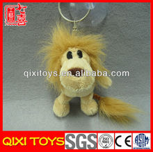 Custom anime stuffed lion toy mini plush lion keychain