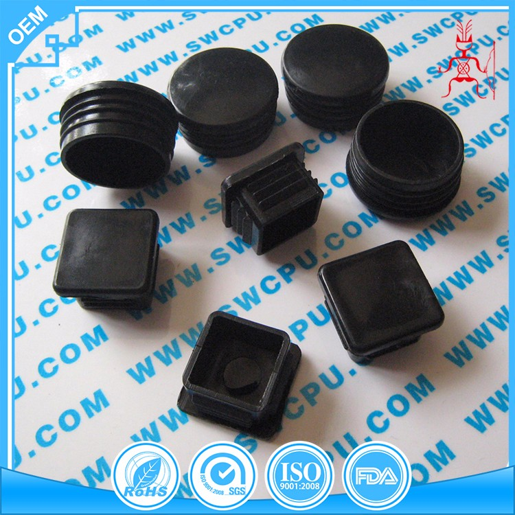 Round and square black nylon plastic chair PVC round plug