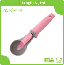Comfort Grip Handle Push-up Plastic Ice Cream Scoop