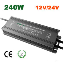 240W 12V 24V 10A 20A 0-10V IP67 Waterproof Led Lighting Transformer