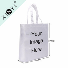 Custom logo printed factory wholesale foldable shopping bag promotional custom pp non woven bag