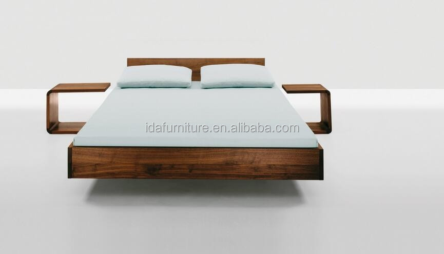 scandinavian and contemporary modern oak wooden bed