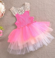 Candy color baby girl summer fluffy dress wholesale baby tutu dress