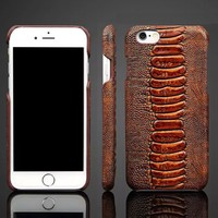 Luxury Retro Genuine Real Leather Back Case Cover For Apple iPhone 6 Plus/6s Plus