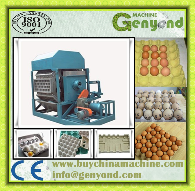 Semi Automatic Egg Tray Making Production Line / Paper Pulp Fruit Tray Machine
