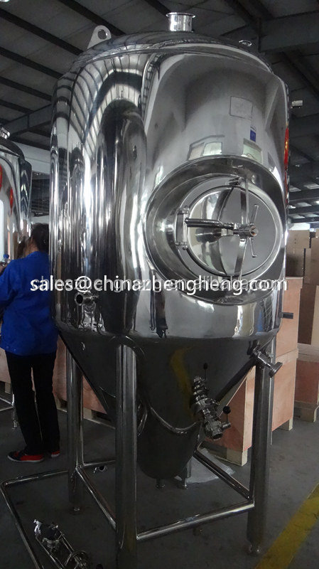 Customize 304,316L stainless steel food grade dimple jacket fermentation tank