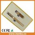 Promotional USB Drive Gift Business Set - Charming Golden