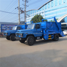 dongfeng swing arm garbage truck arm roll container garbage truck 6cbm skip loader truck