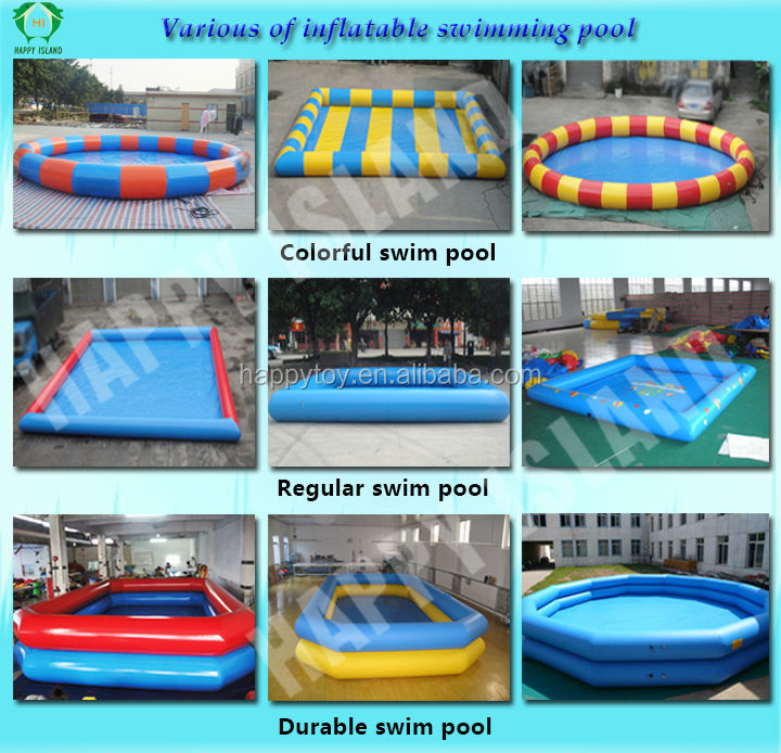 HI CE outdoor swimming pool for kids adult small game inflatable swimming pool