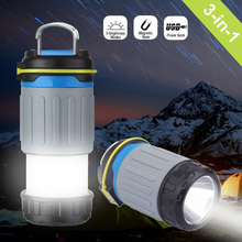 Portable Tent Emergency 3 Modes Power Bank USB Port Rechargeable Camping Lantern Light Led Flashing Lantern Light for Outdoor