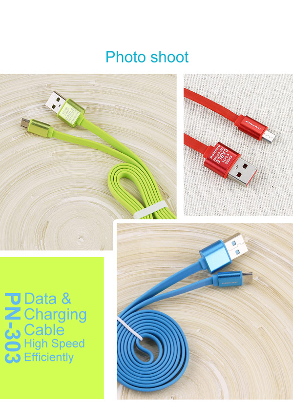 PN-303 Colorful data & charging micro usb cable for Samsung s6 and Xiaomi