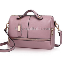 pu leather boston bags for office lady
