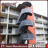 304 stainless steel outdoor metal spiral stairs