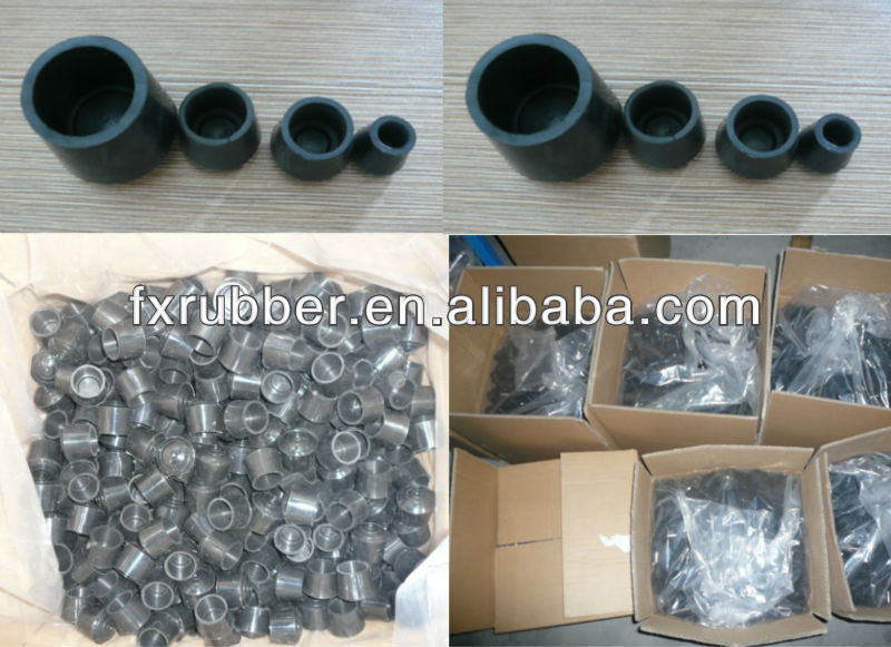 Black Rubber Chair Table Leg End Caps Furniture Protectors Covers
