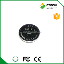 rechargeable battery 3.7V LIR1220 coin cell