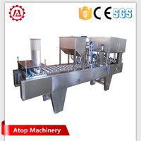 best selling soup cup sealing machine and shrink tunnel with certificate
