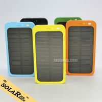SINOTEK 5000mah solar batteries usb cellphone charger for iphone 5 portable power bank