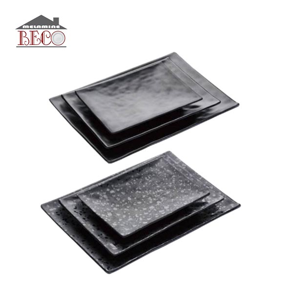 Japanese traditional black color salad Sushi melamine <strong>plate</strong> wholesale <strong>plate</strong>