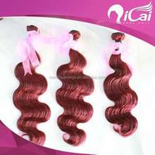 Burgundy Peruvian Body Wave Virgin Hair Weave Bundles Grade 6A Wine Red Peruvian Remy Human Hair Extensions