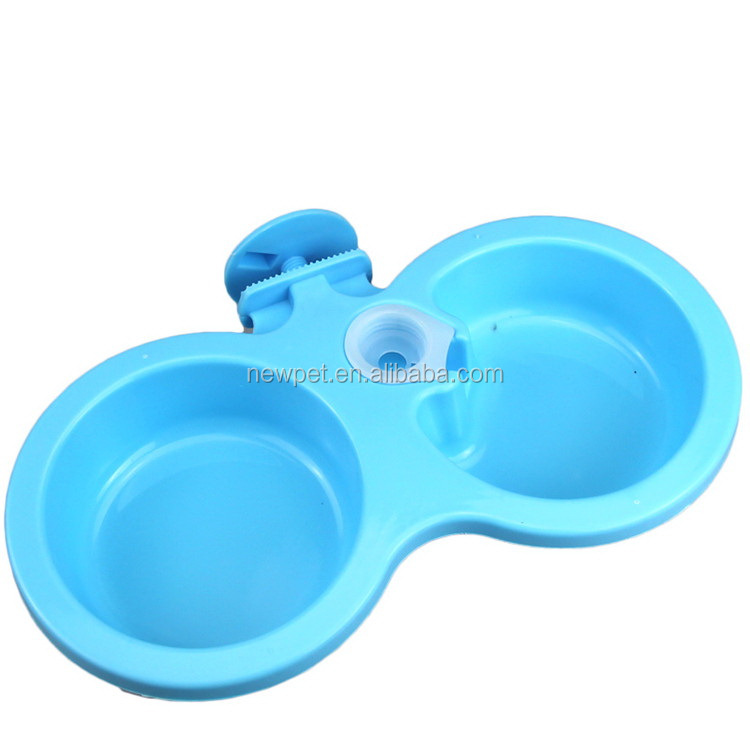 High quality promotional two uses pet can cartoon dog bowl with waterbowl