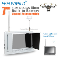 "7""super slim FPV Monitor built-in battery dual 32CH 5.8GHz diversity receivers devo f12e wholesale"