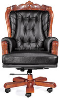 High quality king genuine leather boss office chair(FOH-A10)