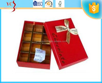 alibaba china trade assurance supplier yingcai wholesale custom paper cardboard chocolate gift packaging box CY-SY123