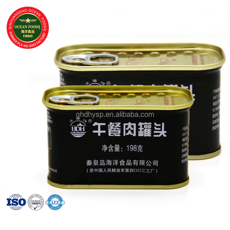 198g 340g Ready Eat Square Canned pork luncheon meat Price