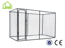 Large outdoor Chain link Dog run kennel dog house