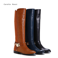 basical woman elastic knee boot rubber outsole boot woman winter 2016 polo boots