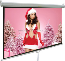 100 inches manual projector screen hot sell from HTP factory manual screen