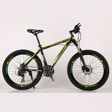 Factory sells high quality 26-inch bicycle front and rear disc brakes 27 - speed downhill Alloy frame mountain <strong>bikes</strong>