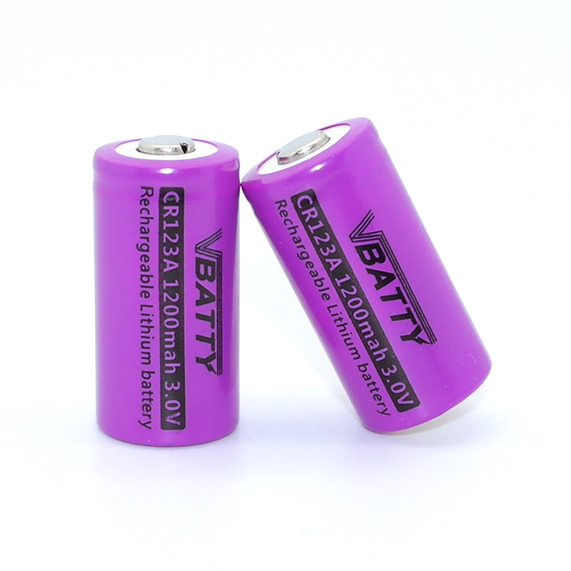 1200mah 3.0v Lithium ion Recharge Battery CR123A battery