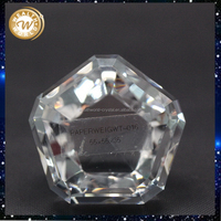 Design best sell gift crystal paperweight prism